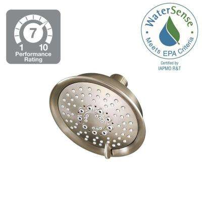 Universal 5-Spray 5.66 in. Fixed Shower Head in Brushed Nickel