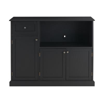 StyleWell Black Wood Transitional Kitchen Pantry (46 in. W x 36 in. H)
