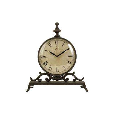 Churchill 14 in. x 12.5 in. Round Iron Table Clock