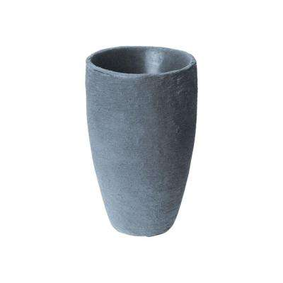 Athena 20.5 in. x 12.6 in. Charcoal Self-Watering Plastic Planter