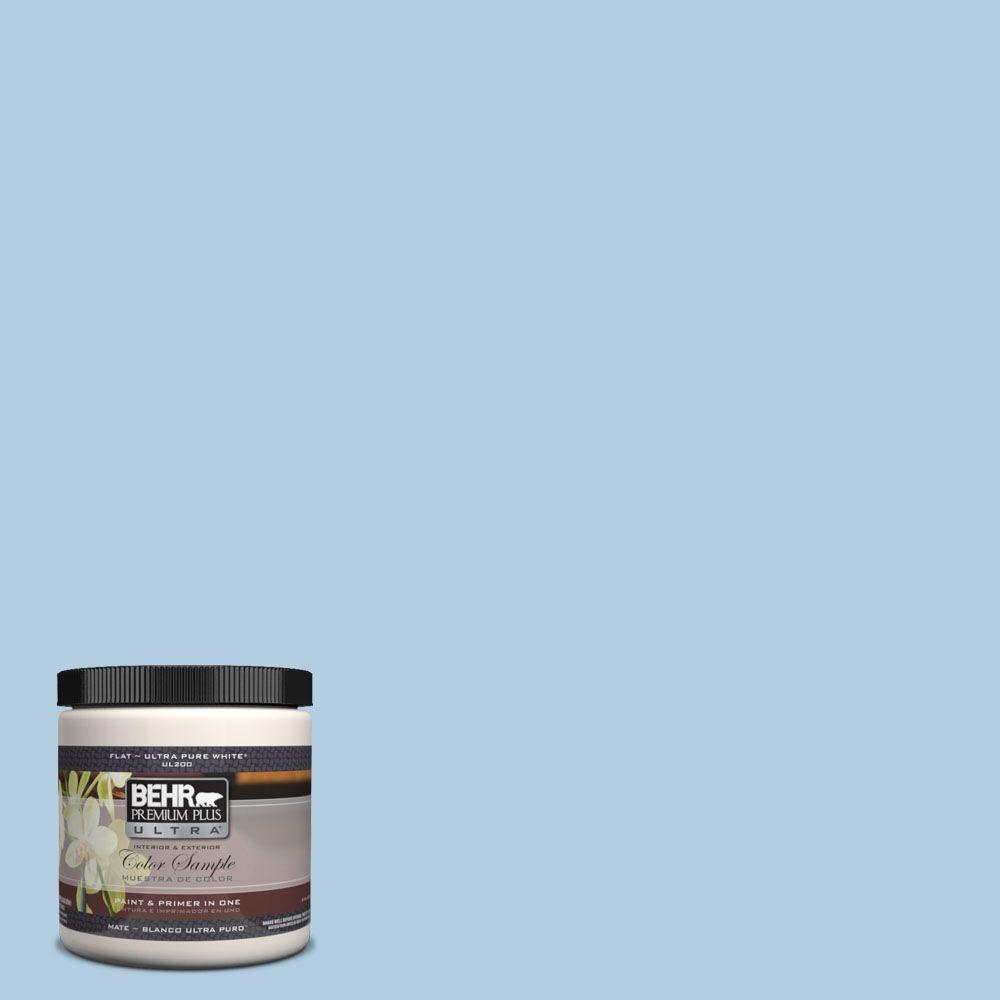 BEHR Premium Plus Ultra 8 oz. #UL230-10 Crystal Waters Interior/Exterior Paint Sample