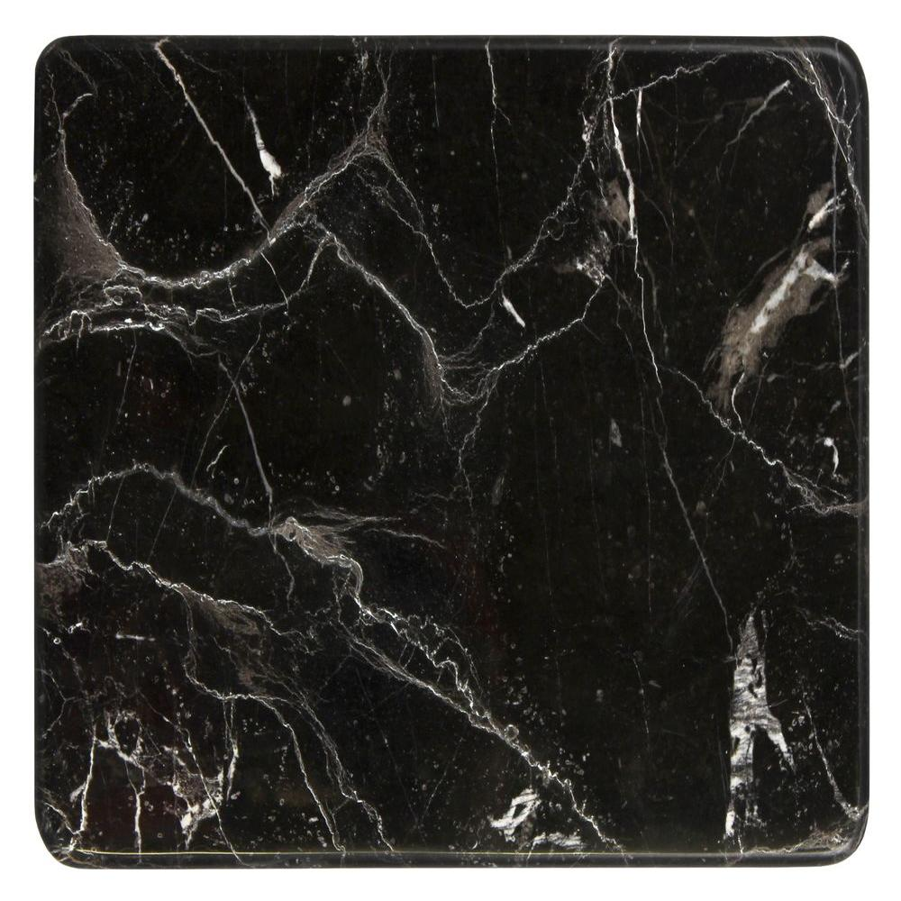 MS International Brown 12 in. x 12 in. Polished Marble Cheese and Pastry Board
