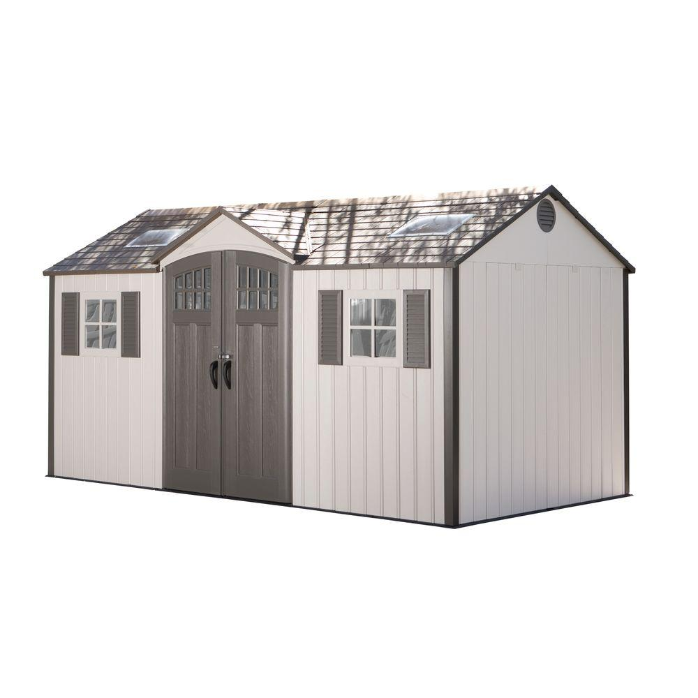 Palram 6 ft. x 5 ft. Tan SkyLight Shed-703388 - The Home Depot