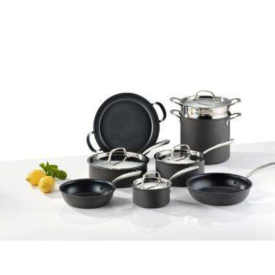 Nera 12-Piece Hard Anodized Aluminum Cookware Set