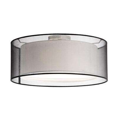Oxford 3-Light Brushed Nickel Semi-Flushmount Light