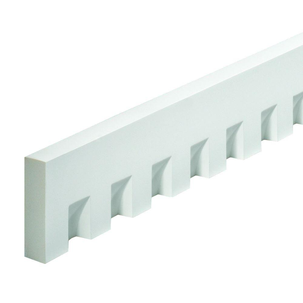 1-1/4 in. x 96 in. x 4-1/2 in. Polyurethane Dentil Trim