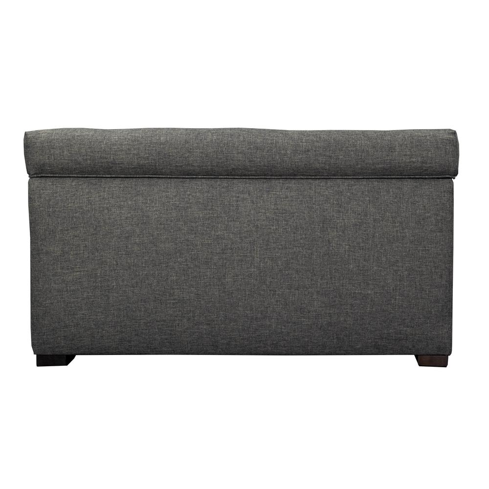 Angela HJM08 Dark Gray Button Tufted Upholstered Storage Trunk