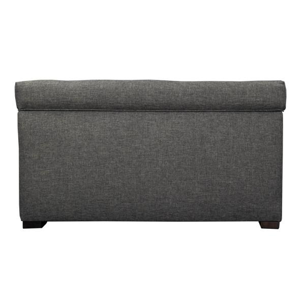 MJL Furniture Designs Angela HJM08 Dark Gray Button Tufted Upholstered Storage