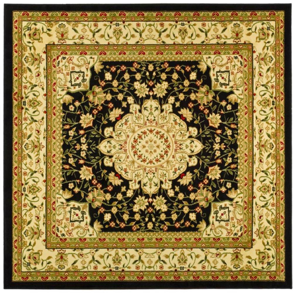 Lyndhurst Black/Ivory 8 ft. x 8 ft. Square Area Rug