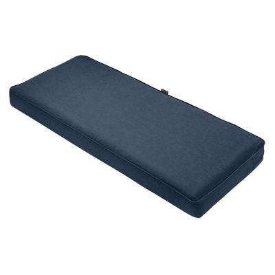 Montlake FadeSafe Heather Indigo 42 in. x 18 in. Outdoor Bench Cushion