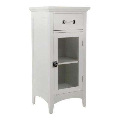 Wilshire 15 in. W x 32 in. H x 13 in. D Bathroom Linen Storage Floor Cabinet in White