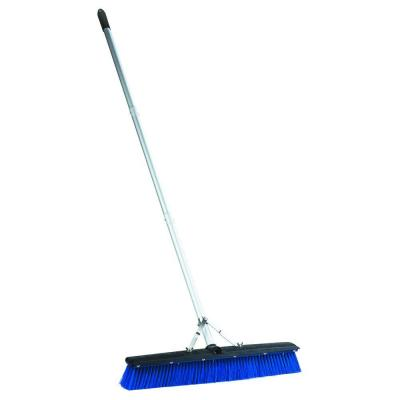 24 in. Complete Plastic Fill Floor Sweep with Squeegee (3-Piece) and Aluminum Handle (6-Case)