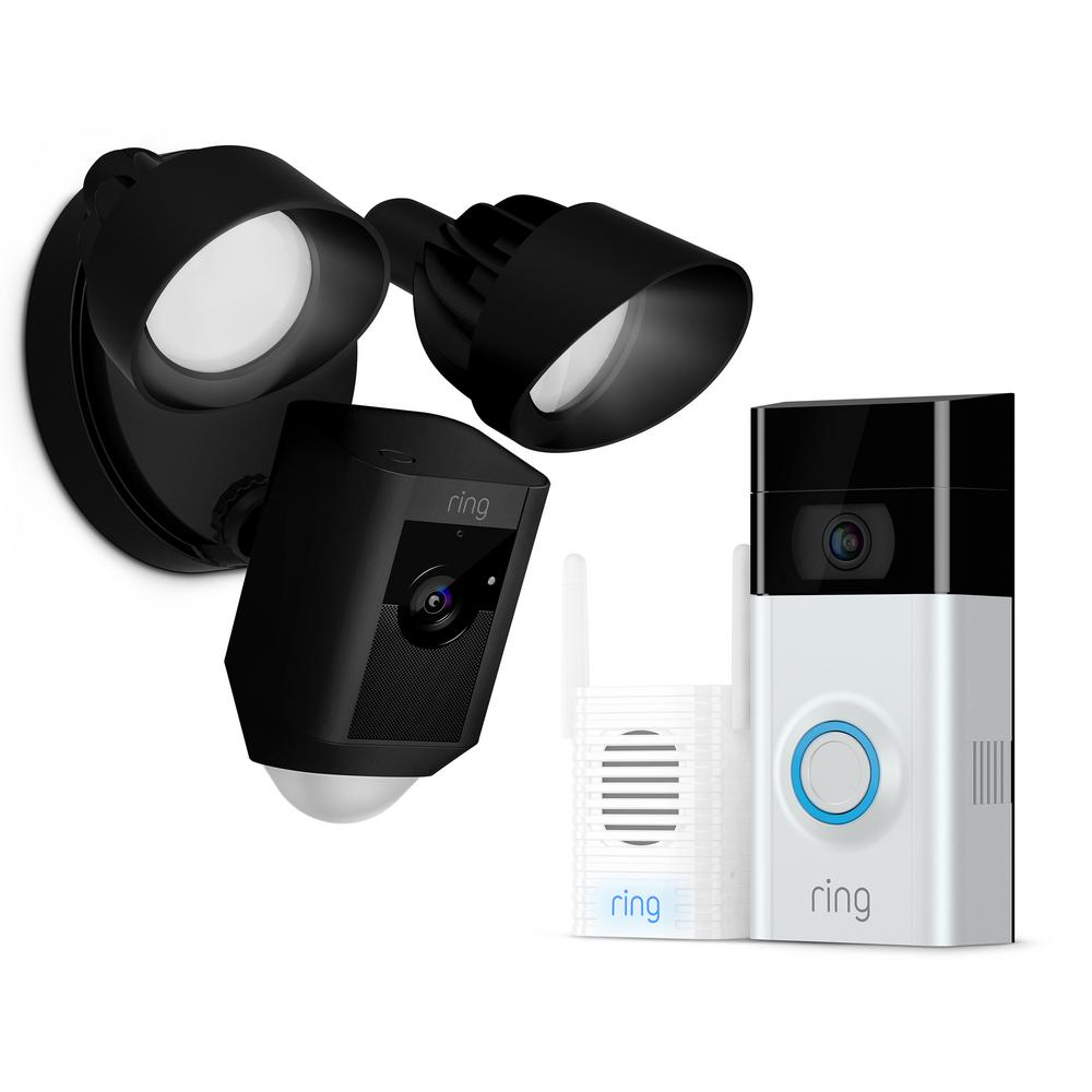 ring wireless video doorbell 2 with chime pro and. Black Bedroom Furniture Sets. Home Design Ideas