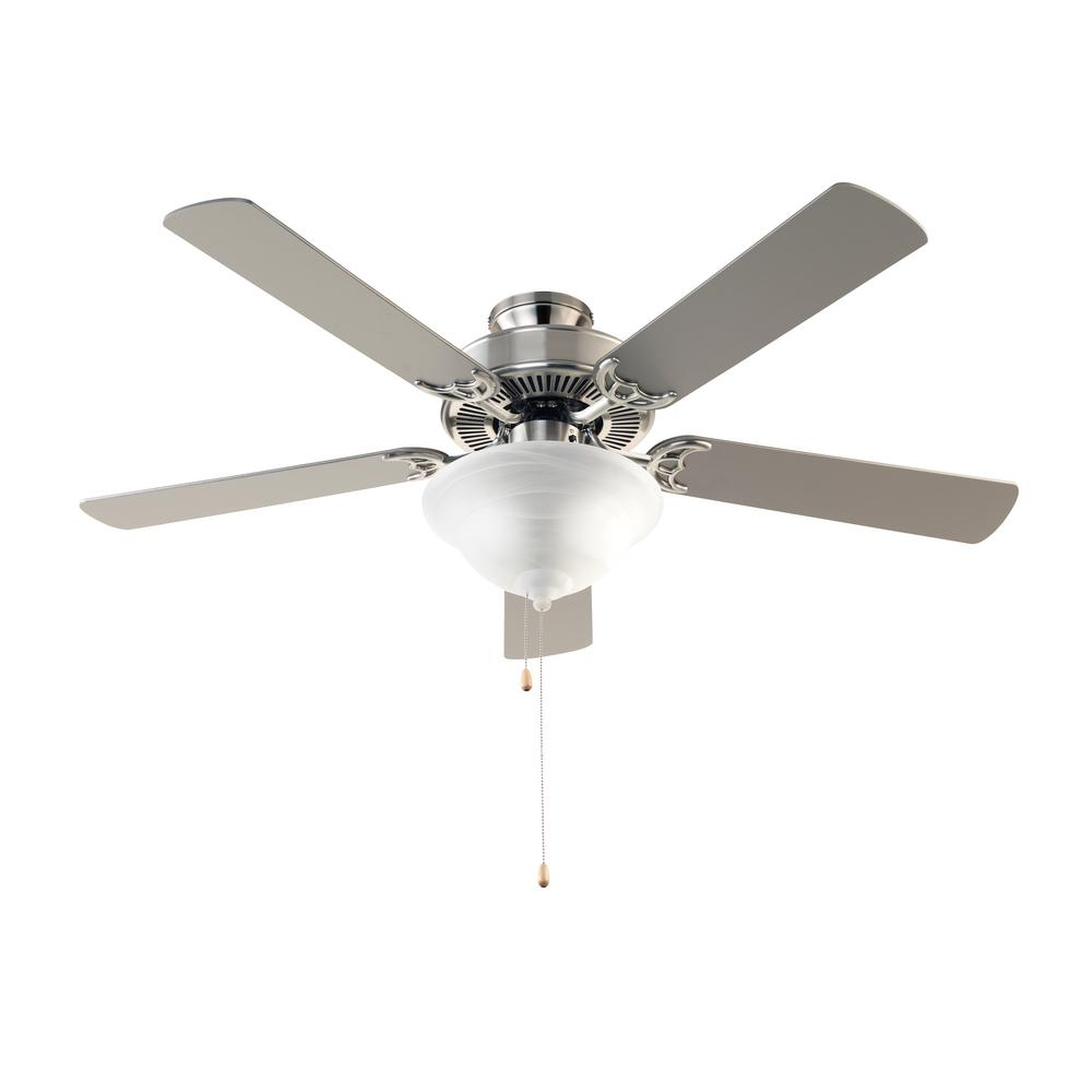 Clarkston 44 In Indoor Brushed Nickel Ceiling Fan With Light Kit Switch Wiring Diagram On Without