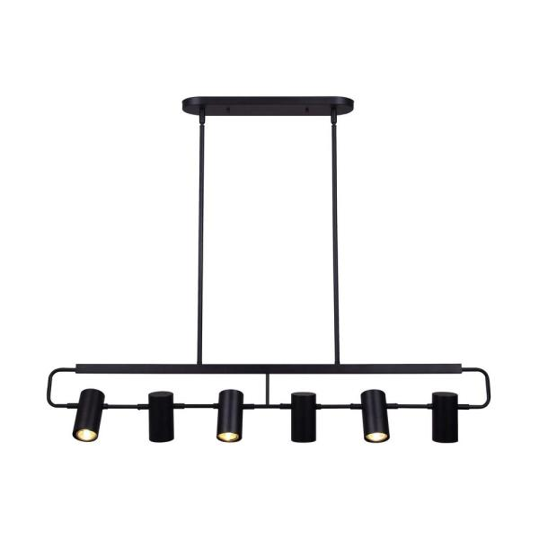 Marena 6-Light Matte Black Halogen Step Fixed Track Lighting Head