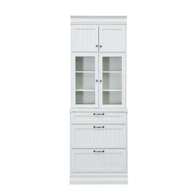 Martingale True White Beadboard 3-Drawer Modular Storage Cabinet