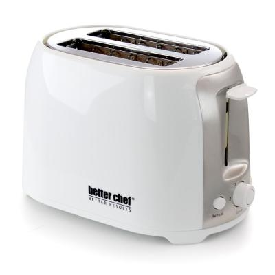 2-Slice White Wide Slot Toaster with Cool-Touch Exterior