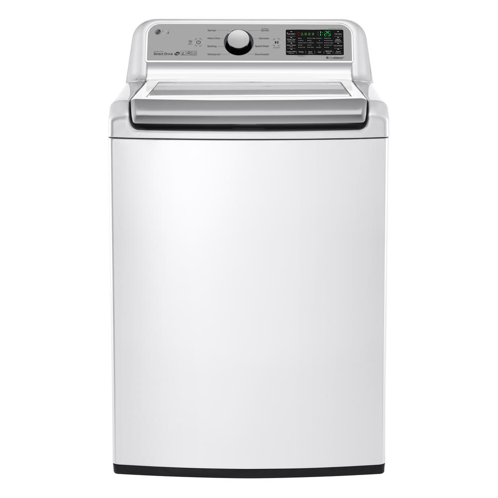 LG Electronics 5.0 cu. ft. Smart Top Load Washer with WiFi Enabled in White, ENERGY STAR