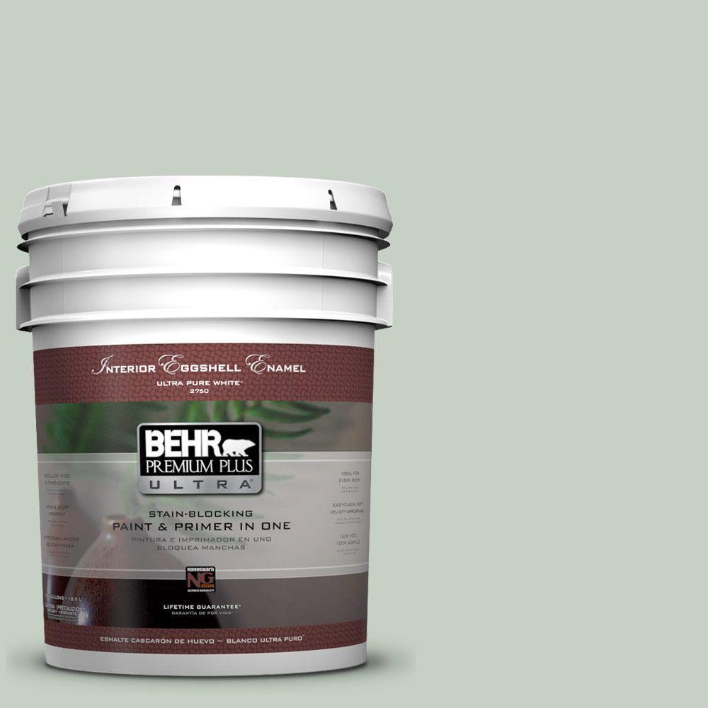 BEHR Premium Plus Ultra 5-gal. #N400-2 Frosted Sage Eggshell Enamel Interior Paint