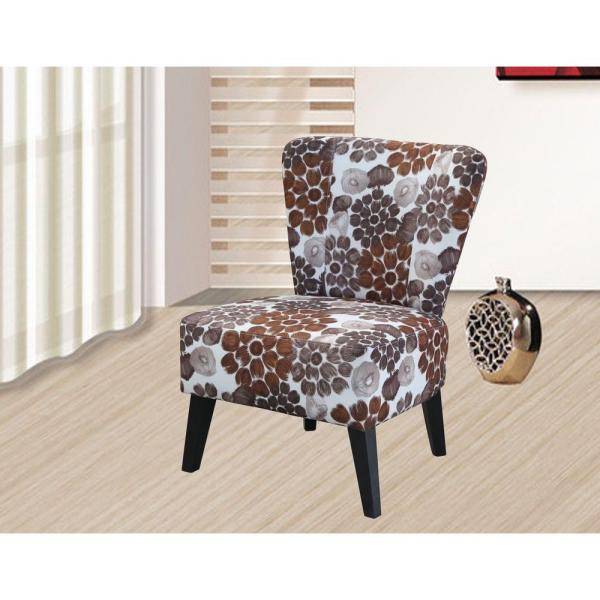 Brown Fabric Accent Chair C-049