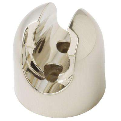 Circular Two Position Hand-Held Shower Bracket in Brushed Nickel