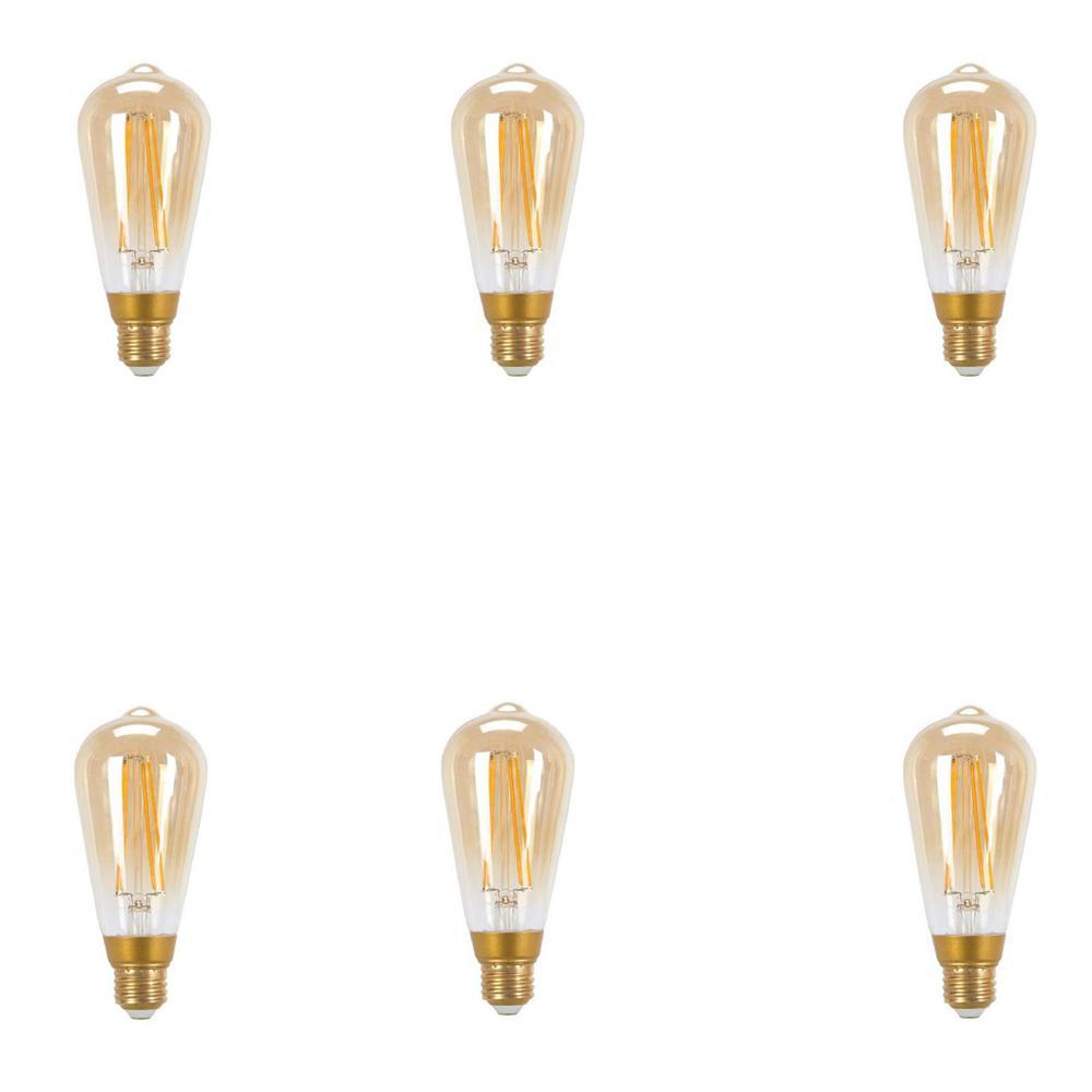 60-Watt Equivalent A19 LED Light Bulb Soft White (6-Pack)
