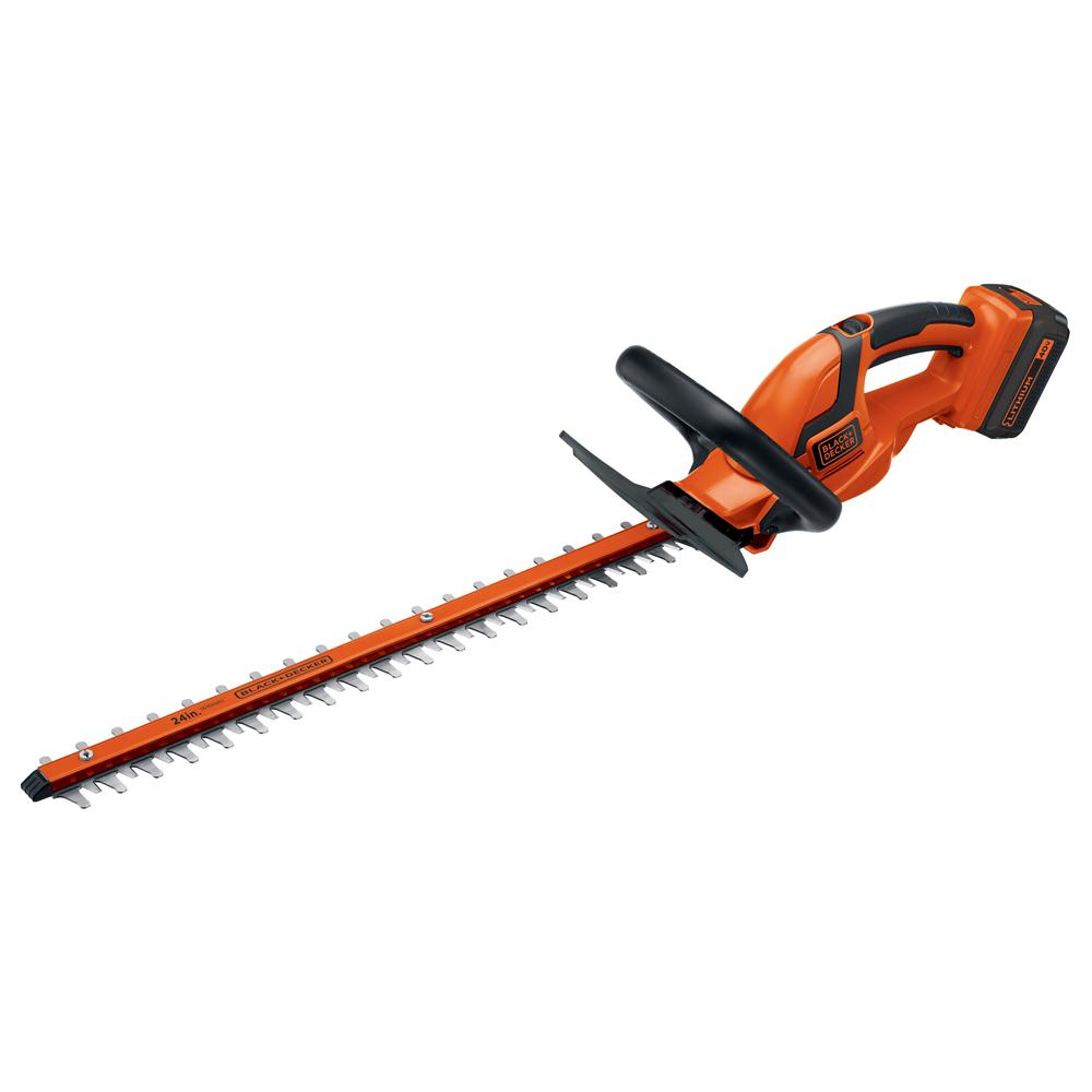 BLACK+DECKER 24 in. 40-Volt MAX Lithium-Ion Cordless Hedg...