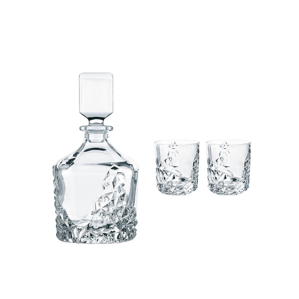 Sculpture 26.5 Oz Crystal Whisky Decanter Set