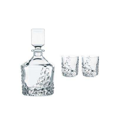 Sculpture 26.5 Oz Crystal Whisky Decanter Set