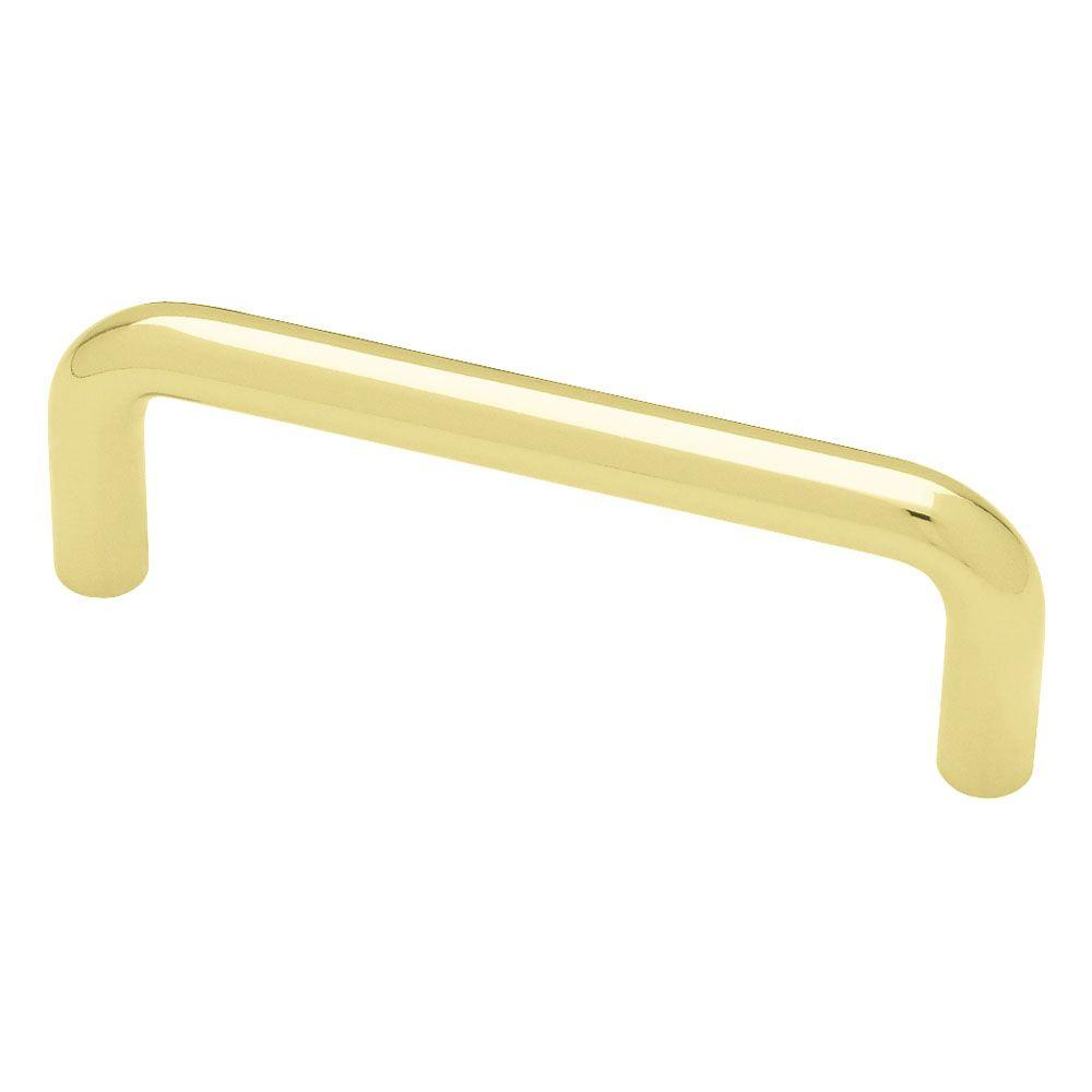 (76mm) Polished Brass Wire Drawer Pull