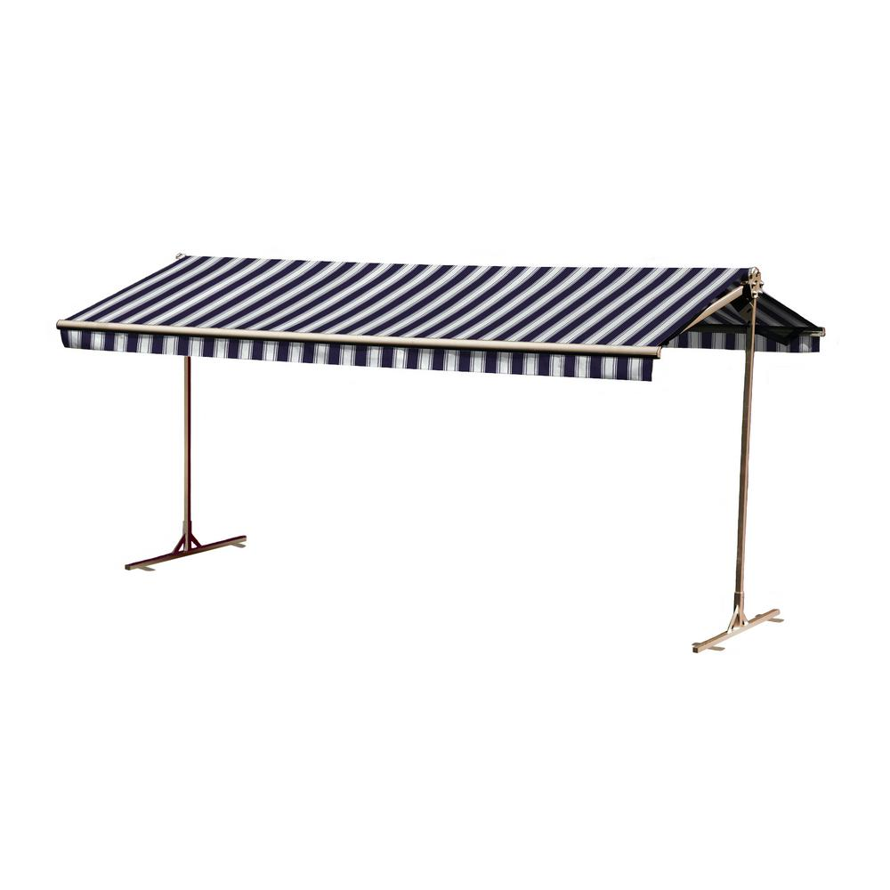 16 ft. Oasis Freestanding Motorized Retractable Awning (120 in. Projection) with