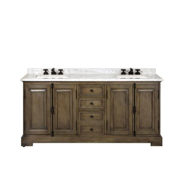 Home Decorators Collection Clinton 72 In W Double Vanity In