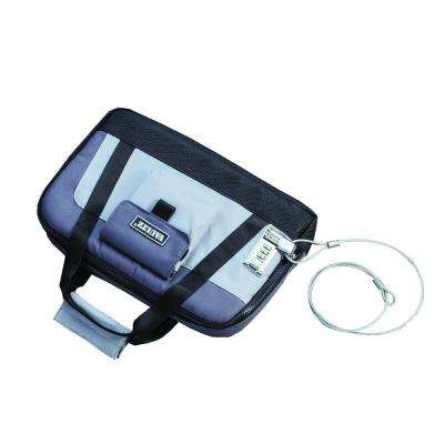 Locking Pistol Case w/Security Tether-Soft-Sided, Gray/Black