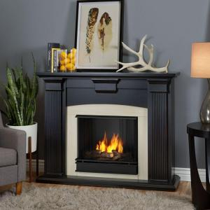 Real Flame Ashley 48 in. Gel Fuel Fireplace in Blackwash-7100-BW ...