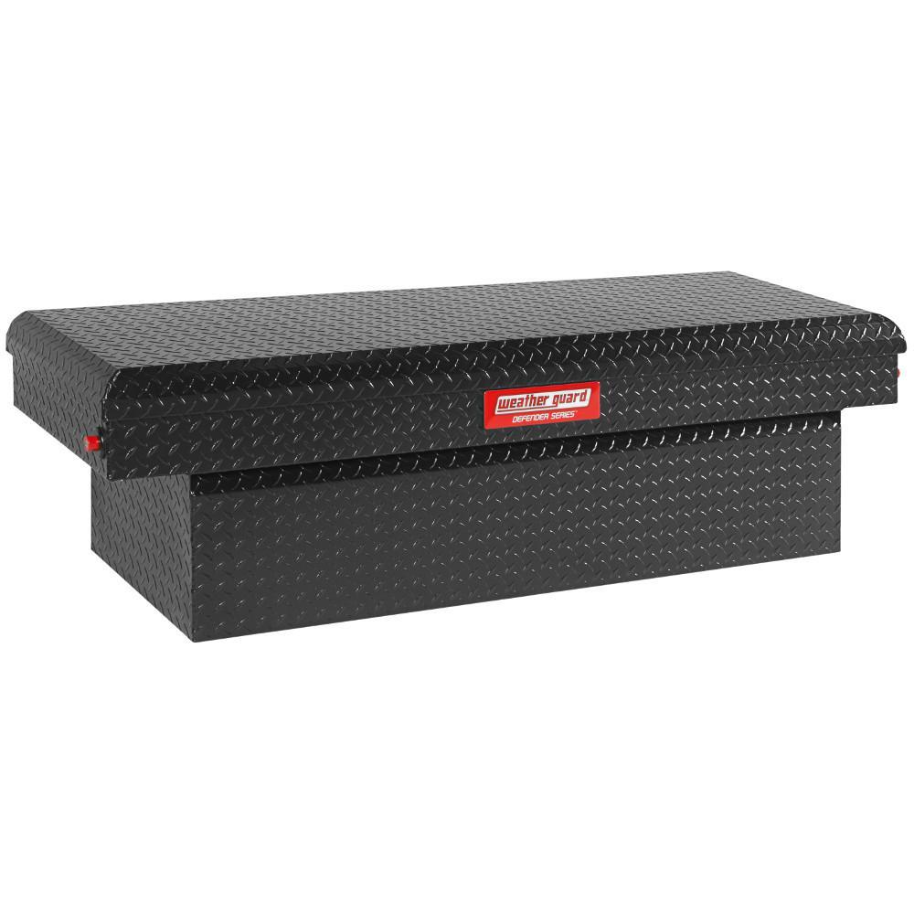 61.88 Matte Black Aluminum Low Profile Crossbed Truck Tool Box