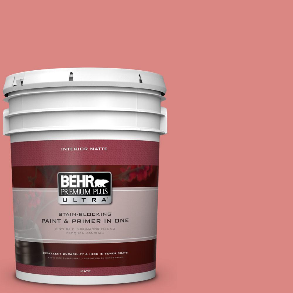 5 gal. #M160-5 Pink Damask Matte Interior Paint