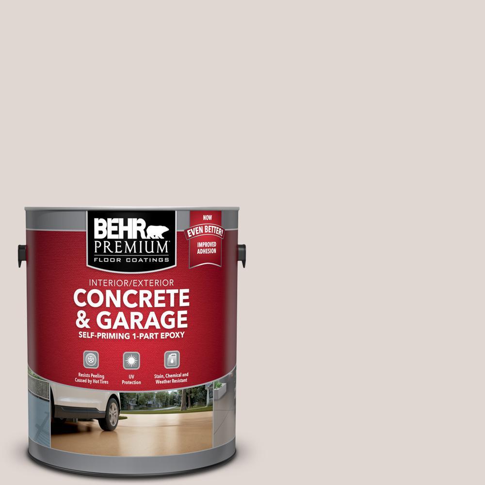 BEHR Premium 1 gal. #N210-1 Taupe Tease Self-Priming 1-Part Epoxy Satin Interior/Exterior Concrete and Garage Floor Paint