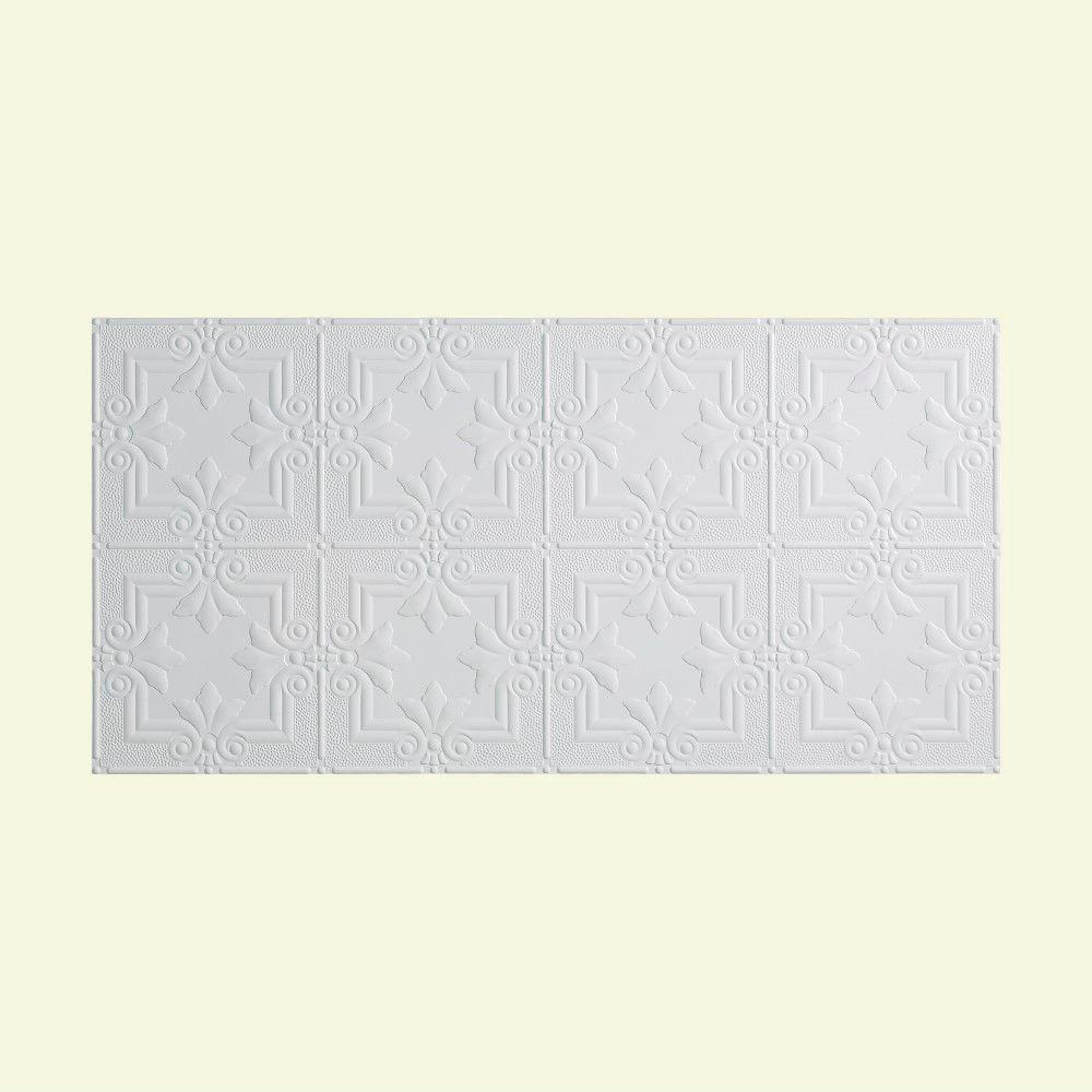 Fasade regalia 2 ft x 4 ft glue up ceiling tile in matte white glue up ceiling tile in matte dailygadgetfo Image collections