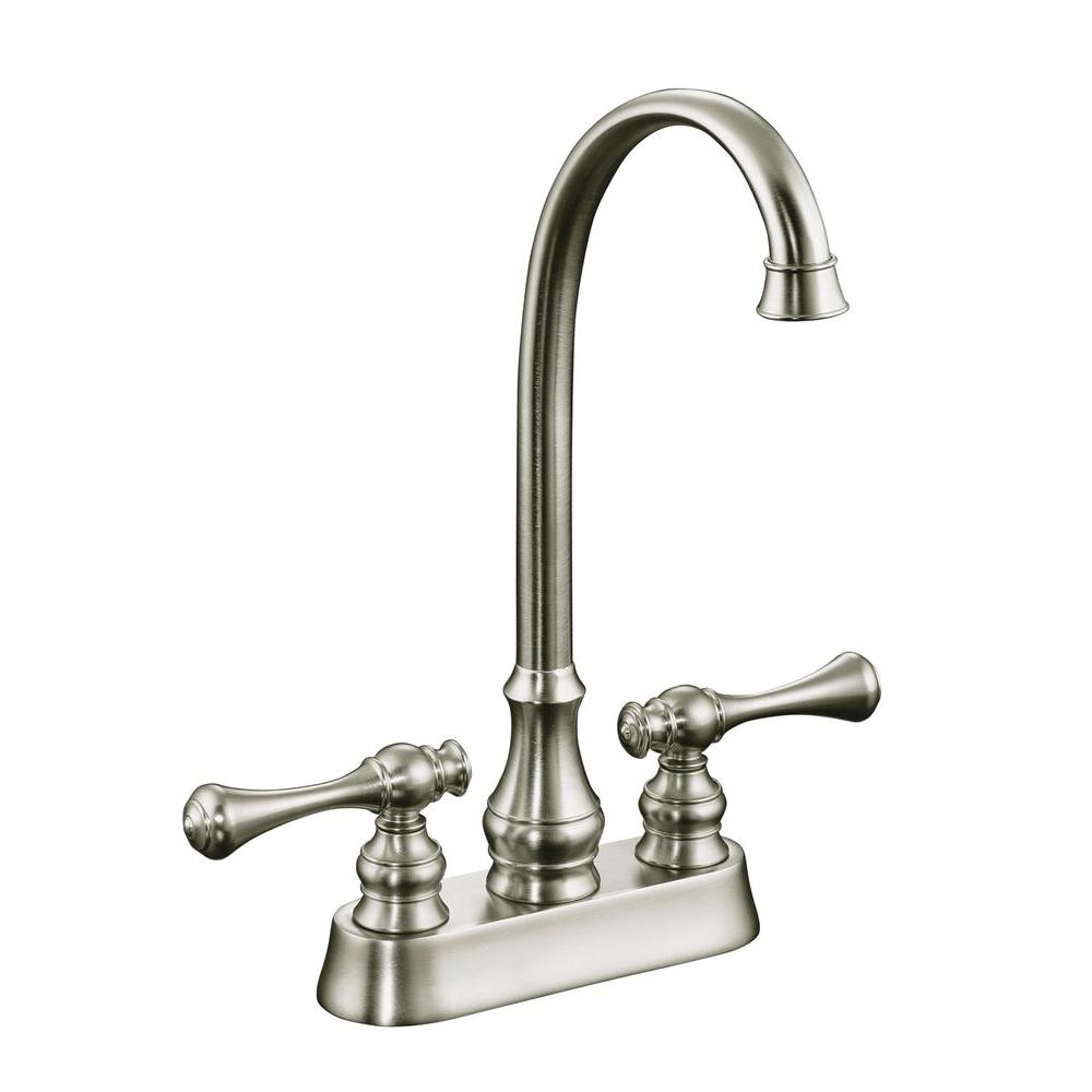 Kohler Revival 2 Handle Bar Faucet In Vibrant Brushed Nickel K 16112