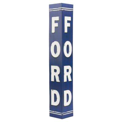 Ford Blue and White Tin Decorative Sign