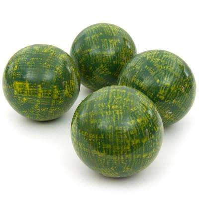 Oriental Furniture 4 in. Green Porcelain Ball Set