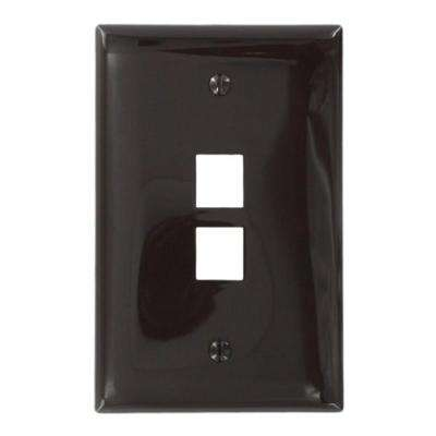 1-Gang QuickPort Midway Size 2-Port Wallplate, Brown