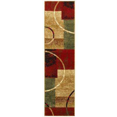 Grace Red 2 ft. x 7 ft. Plush Indoor Runner Rug