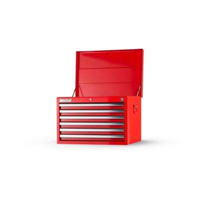 Tech Series 27 in. 6-Drawer Top Chest, Red