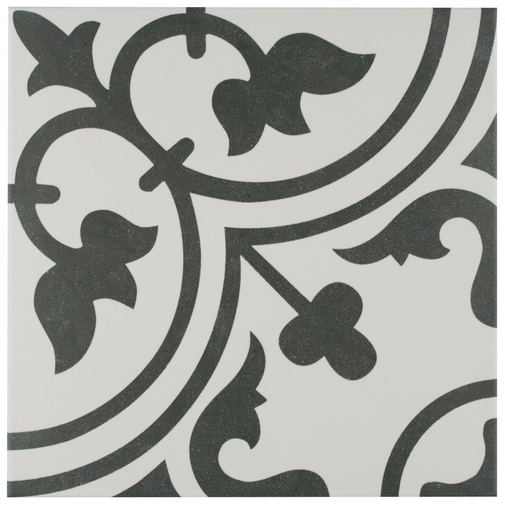 Merola Tile Arte White Encaustic 9-3/4 in. x 9-3/4 in. Porcelain Floor and Wall Tile (36 cases / 399.96 sq. ft. / pallet)