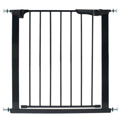 29.5 in. H Pressure Mount Gate Auto Close Gateway in Black
