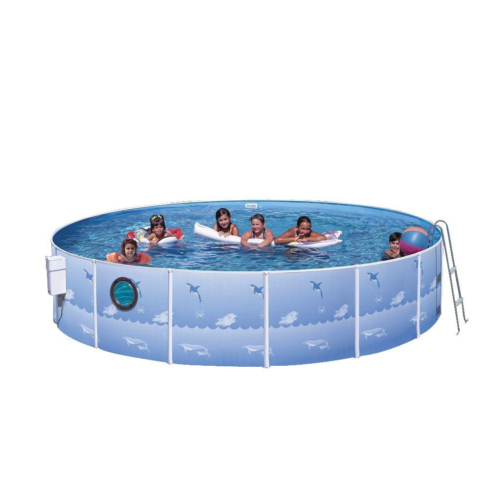 Heritage pools fun and sun 12 ft x 36 in round pool for 12 ft garden pool