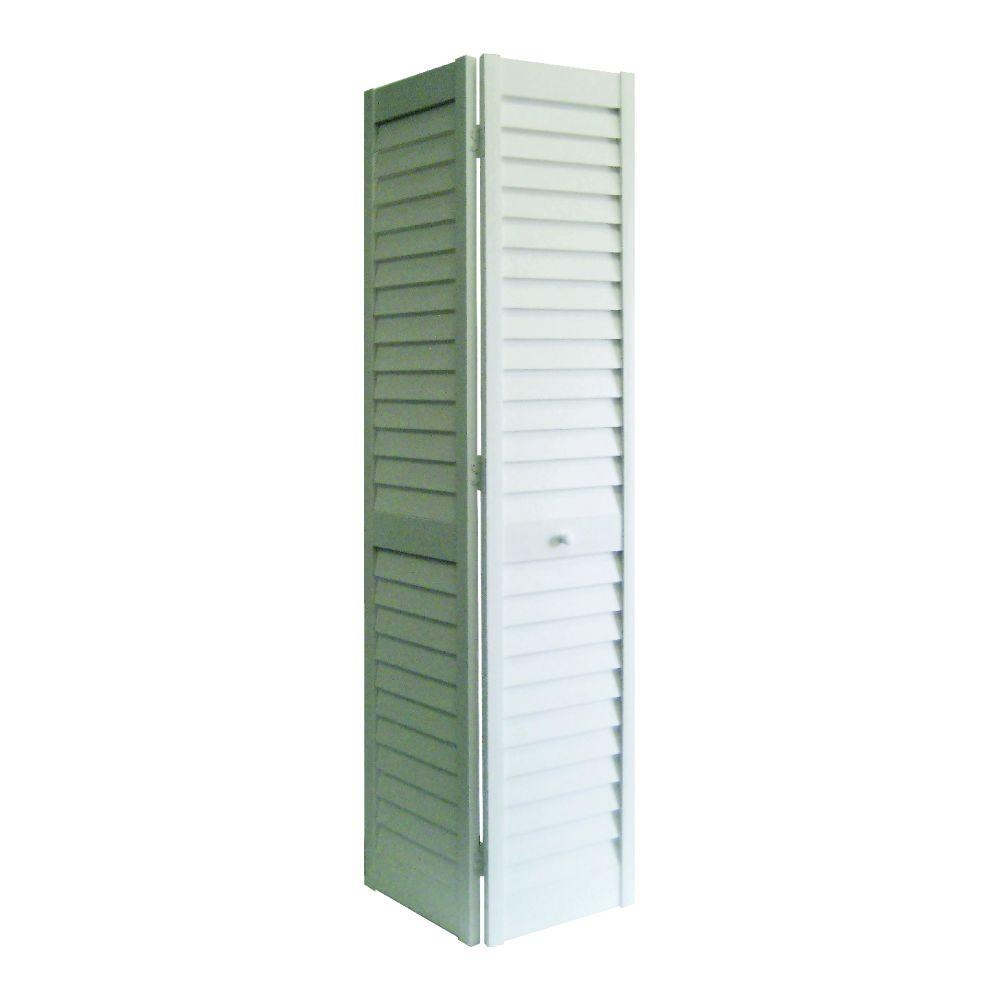 Home Fashion Technologies 30 in. x 80 in. 3 in. Louver/Louver White ...