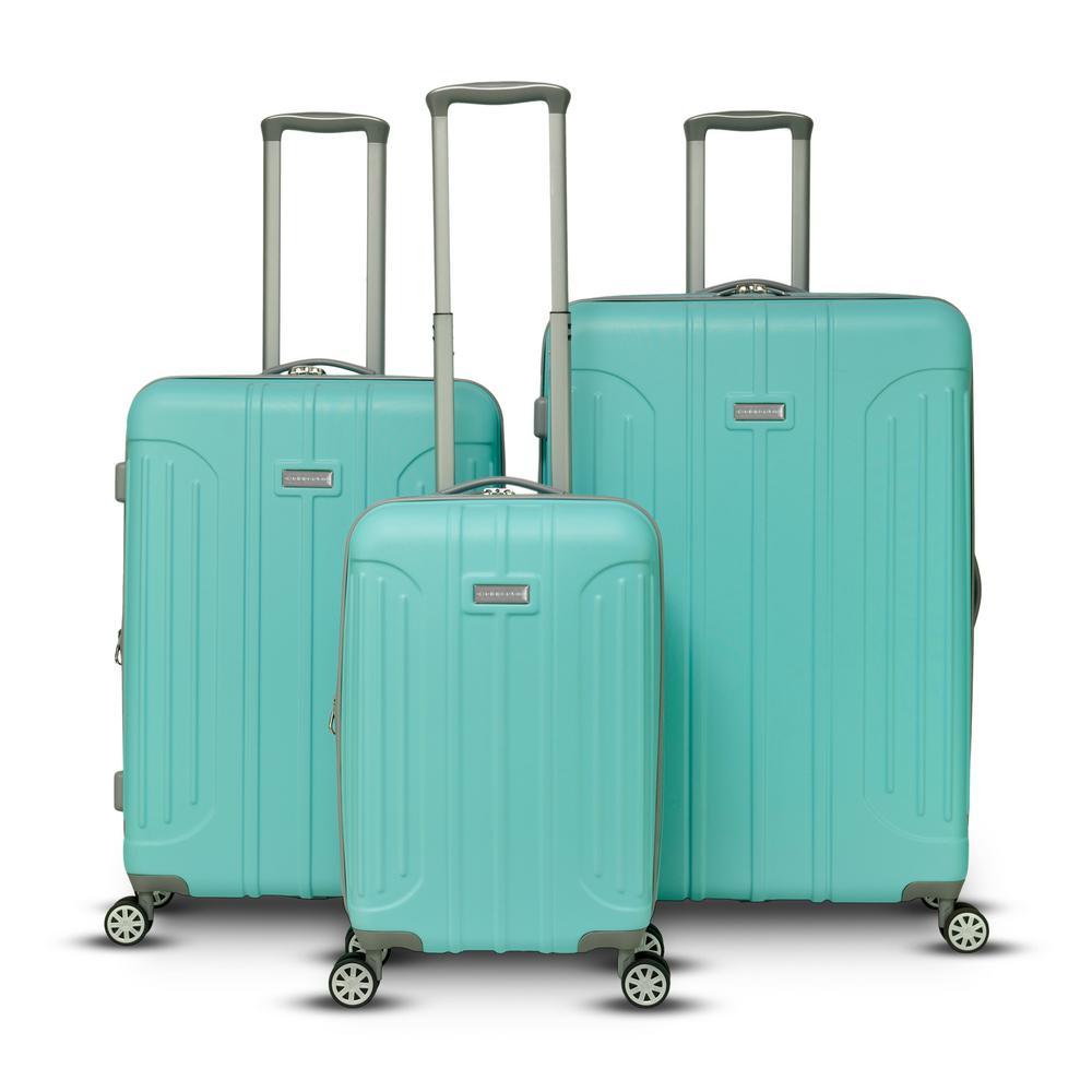Viva 3-Piece Tiffany Blue Hardside Upright Spinner Set