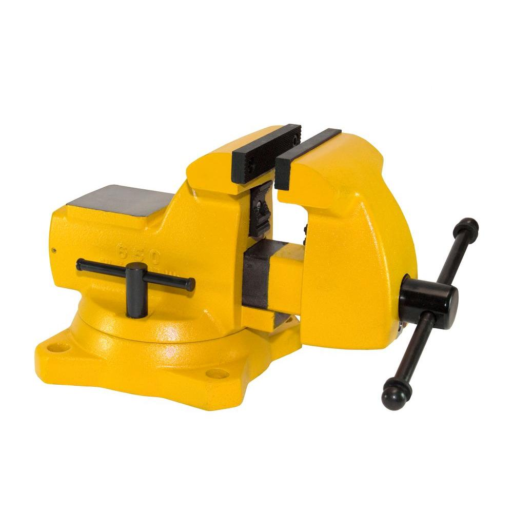 Yost 5 in High Visibility Mechanics Bench Vise Swivel Base650